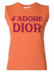 Christian Dior Pre-Owned J'Adore Dior sleeveless T-shirt - ORANGE