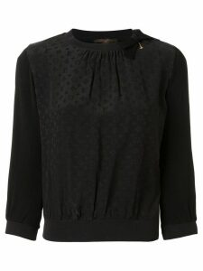Louis Vuitton Pre-Owned jacquard monogram blouse - Black