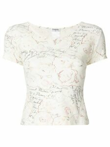 Chanel Pre-Owned patterned T-shirt - White