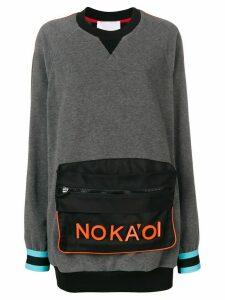 No Ka' Oi pouch sweatshirt - Grey