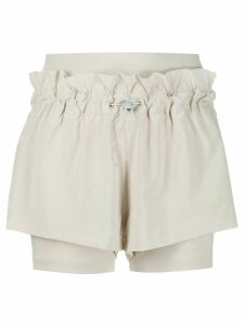 adidas by Stella McCartney Hiit double-layer shorts - NEUTRALS