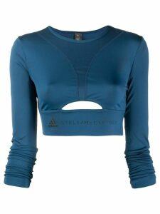 adidas X Stella McCartney cropped sports top - Blue