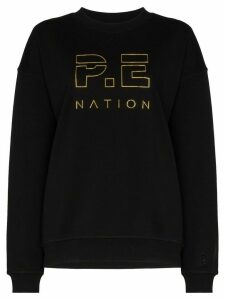 P.E Nation Heads Up logo-print sweatshirt - Black
