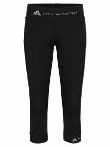 adidas by Stella McCartney mesh-panelled leggings - Black