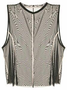 Kiki de Montparnasse Muscle mesh tank top - Black