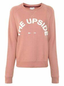 The Upside logo print sweatshirt - PINK