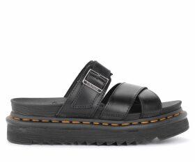 Dr Martens Ryker Model Sandal Made Of Black Leather