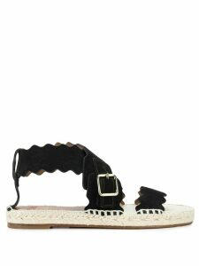 Chloé scalloped espadrille sandals - Black