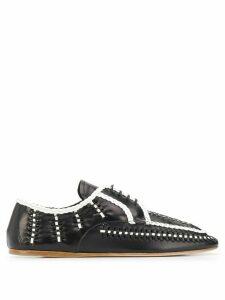 Prada woven lace-up shoes - Black
