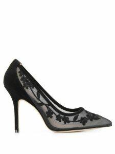 Stuart Weitzman pointed toe lace pumps - Black