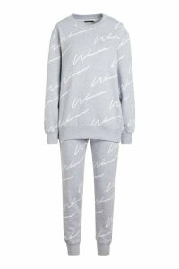 Womens Woman Signature jumper Tracksuit - grey - 14, Grey