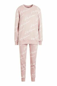Womens Woman Signature jumper Tracksuit - pink - 14, Pink