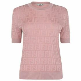 Fendi Short Sleeved All Over Logo Jumper