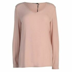 Marc Aurel V Neck Long Sleeve Blouse