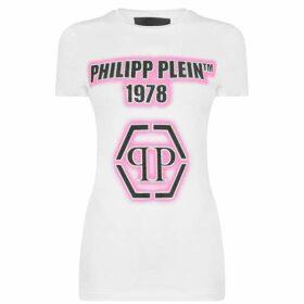 Philipp Plein Philipp Plein Dia Pink T Shirt