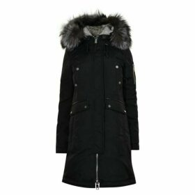 Nicole Benisti Madison Intarsia Fur Trim Jacket