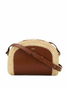 A.P.C. Demi-Lune crossbody bag - Brown