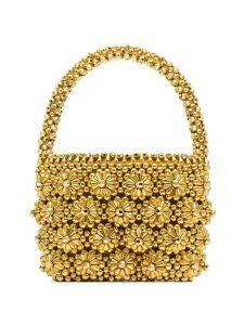 Shrimps Shelly beaded tote bag - GOLD