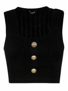 Balmain Button-embellished Tank Top
