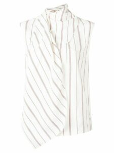 Joseph wrap style striped blouse - White