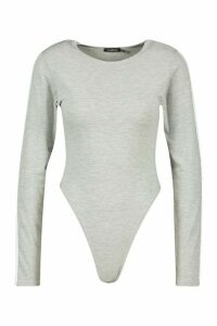 Womens Side Stripe Scoop Neck Body - grey - 10, Grey