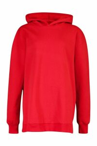 Womens Extreme Oversized Hoodie - Red - 10, Red