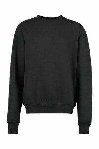Womens Basic Oversized Sweatshirt - black - 16, Black