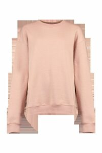 Womens Basic Oversized Sweatshirt - Pink - 10, Pink