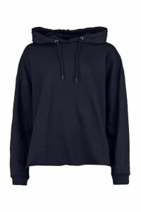 Womens Basic Oversized Hoodie - Navy - 14, Navy