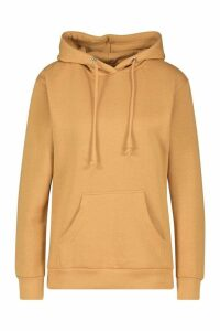 Womens Basic Pocket Detail Hoody - beige - M, Beige
