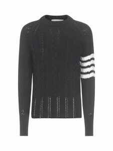 Thom Browne Crewneck 4 Bar Sweater