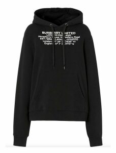 Burberry Location Print Oversized Hoodie