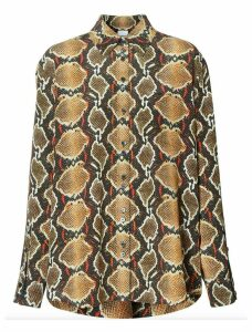 Burberry Python Print Buttoned Shirt
