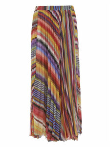 Etro Long Pleated Printed Skirt