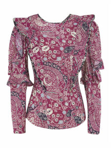 Isabel Marant Étoile Ruffled Sleeve Printed Blouse