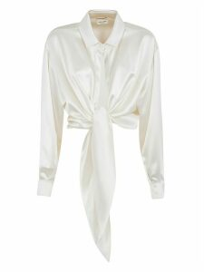 Saint Laurent Draped Cropped Shirt