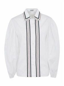 Miu Miu Floral Panel Buttoned Shirt