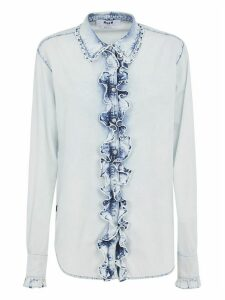 MSGM Ruffled Buttoned Shirt