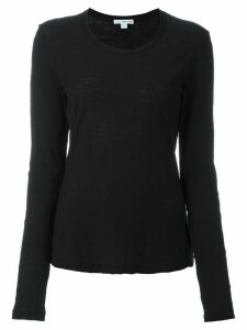 James Perse round neck longsleeved T-shirt - Black