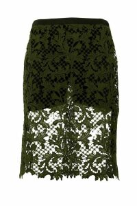 Sacai Embrodery Lace Skirt