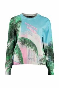 Boutique Moschino Printed Cotton-blend Sweater