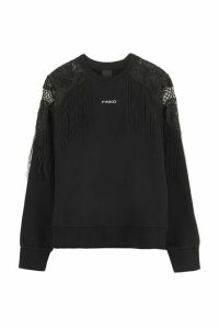 Pinko Omelette Sweatshirt With Macrame Lace Inserts