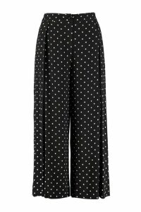 Pinko Crembrule Printed High-rise Trousers