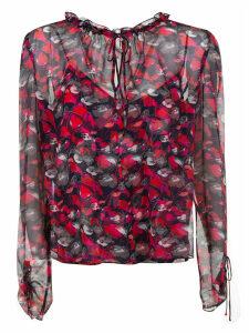 Diane Von Furstenberg Floral Print Lace Top