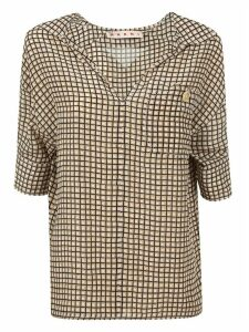 Marni Check Print Polo Neck Blouse
