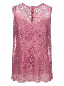 Dolce & Gabbana Floral Sleeveless Lace Top