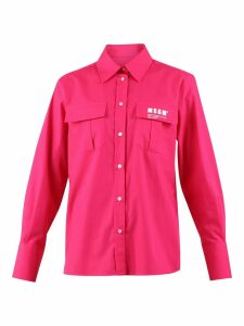 MSGM Logo Print Cotton Shirt