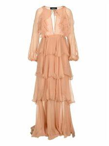 D Squared Long Flounce Dress