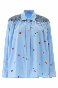 Miu Miu Shirt With Embroidered Roses
