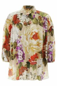 Dolce & Gabbana Oversized Shirt With Floral Print